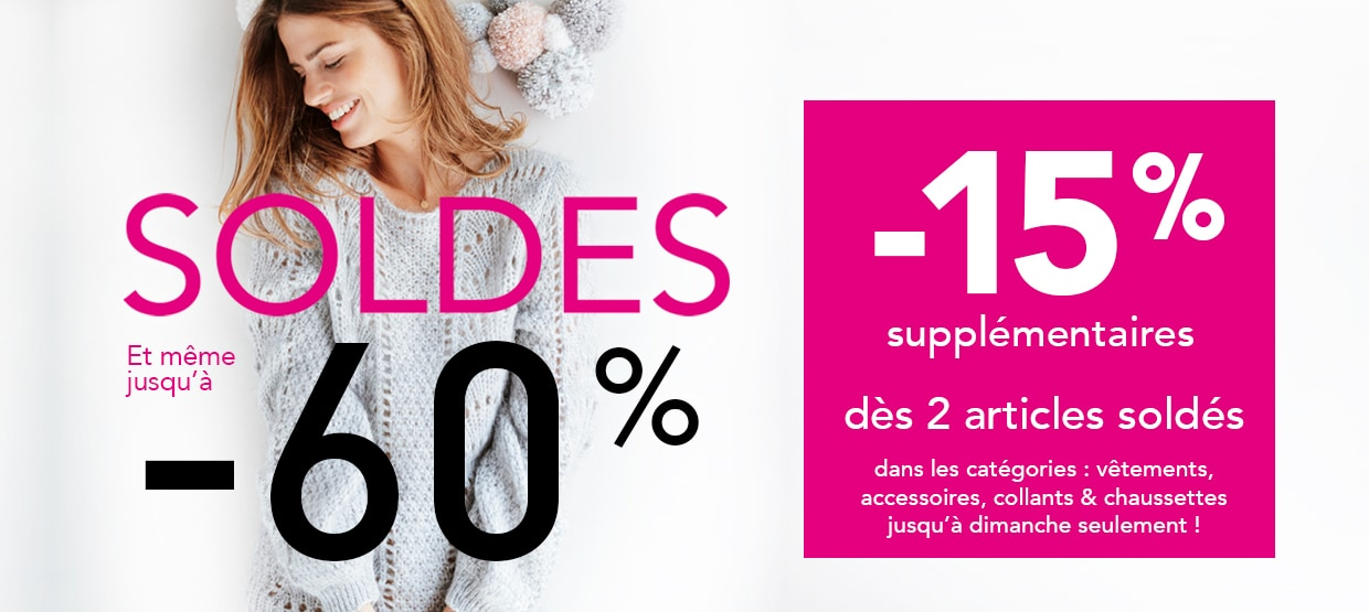 Offre Flash : - 15% supp